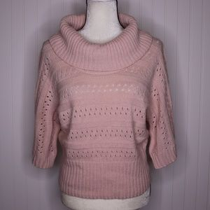 Studio Works Cowl Neck Chunky Knit Sweater Size M